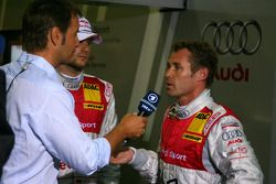 Tom Kristensen, Audi Sport Team Abt, talks on German TV about the qualifying session and the heavy r