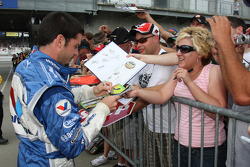 Patrick Carpentier signs autographs