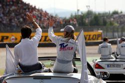 Bruno Spengler, Team HWA AMG Mercedes, AMG Mercedes C-Klasse and Susie Stoddart, Persson Motorsport AMG Mercedes, AMG Mercedes C-Klasse