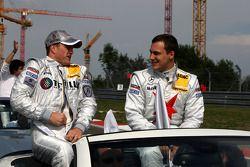 Ralf Schumacher, Mücke Motorsport AMG Mercedes, AMG Mercedes C-Klasse and Gary Paffett, Persson Motorsport AMG Mercedes, AMG-Mercedes C-Klasse