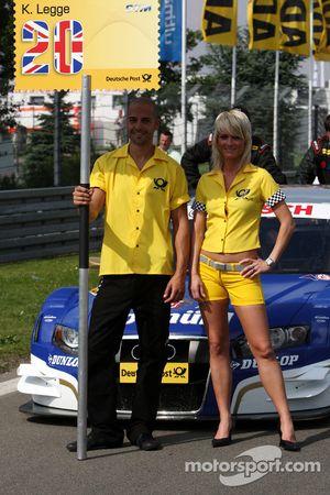 The grid couple of Katherine Legge, TME, Audi A4 DTM