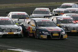 Start: Bernd Schneider, Team HWA AMG Mercedes, AMG Mercedes C-Klasse, Martin Tomczyk, Audi Sport Tea