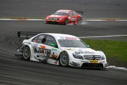 Jamie Green, Team HWA AMG Mercedes, AMG Mercedes C-Klasse, leads Gary Paffett, Persson Motorsport AM