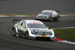 Bernd Schneider, Team HWA AMG Mercedes, AMG Mercedes C-Klasse, leads Paul di Resta, Team HWA AMG Mer