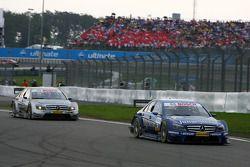 Maro Engel, Mücke Motorsport AMG Mercedes, AMG Mercedes C-Klasse, leads Bruno Spengler, Team HWA AMG