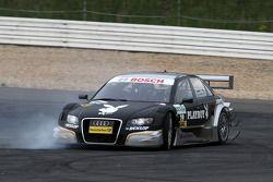 Markus Winkelhock, Audi Sport Team Rosberg, Audi A4 DTM having a rather unorthodox way of approaching the first corner