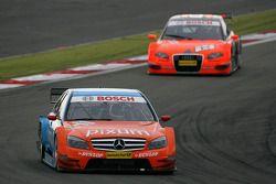 Mathias Lauda, Persson Motorsport AMG Mercedes, AMG Mercedes C-Klasse, leads Christijan Albers, TME, Audi A4 DTM