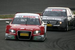 Mike Rockenfeller, Audi Sport Team Rosberg, Audi A4 DTM, leads Paul di Resta, Team HWA AMG Mercedes, AMG Mercedes C-Klasse