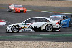 Tom Kristensen, Audi Sport Team Abt, Audi A4 DTM spun off at the first corner The rear part of the c