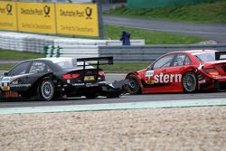 Incident with Gary Paffett, Persson Motorsport AMG Mercedes, AMG-Mercedes C-Klasse and Timo Scheider, Audi Sport Team Abt, Audi A4 DTM Both touched and Paffett got an official warning Some aerodynamic parts flew off the car of Timo Scheider, Audi Sport Te