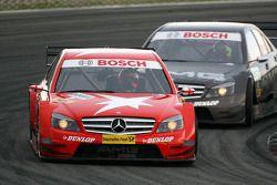 Gary Paffett, Persson Motorsport AMG Mercedes, AMG-Mercedes C-Klasse, leads Paul di Resta, Team HWA
