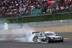 Ralf Schumacher, Mücke Motorsport AMG Mercedes, AMG Mercedes C-Klasse locking up a front wheel on the braking