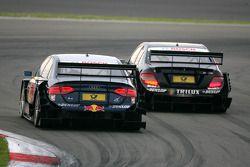 Ralf Schumacher, Mücke Motorsport AMG Mercedes, AMG Mercedes C-Klasse, leads Martin Tomczyk, Audi Sp