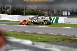 Christijan Albers, TME, Audi A4 DTM spun exiting the Mercedes arena and went into the grass