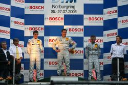 Podium: race winner Bernd Schneider, second place Paul di Resta, third place Jamie Green