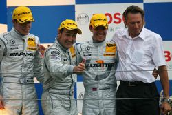 Podium: race winner Bernd Schneider, second place Paul di Resta, third place Jamie Green, Hans-Jürgen Mattheis