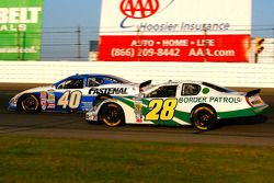 Kenny Wallace races for position with Bryan Clauson