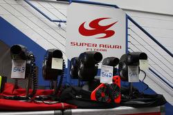 Items for sale Super Aguri F1 Team auction, Leafield Technical Centre, Oxfordshire