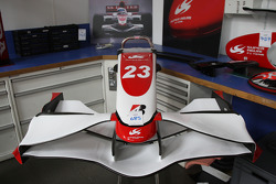 Items for sale in Super Aguri F1 Team auction at the Leafield Technical Centre, Oxfordshire