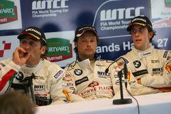 Post-race press conference: Alex Zanardi, Andy Priaulx, Felix Porteiro
