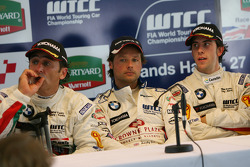 Post-race press conference: Alex Zanardi, Andy Priaulx, Felix Porteiro