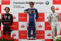 Podio: Ganador de la carrera Esteban Gutiérrez, Josef-Kaufmann-Racing, segundo lugar Pedro Bianchini