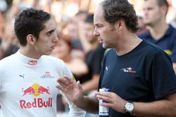 Red Bull demonstration, Lake Balaton, Sebastien Buemi, Test Driver, Red Bull Racing with Gerhard Ber