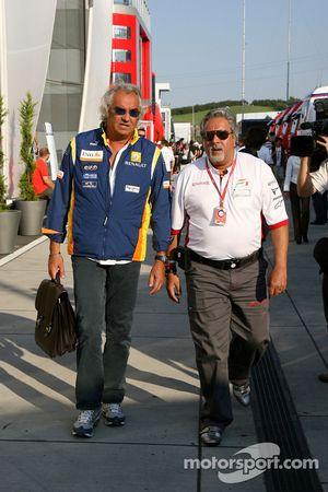 Flavio Briatore, Renault F1 Team, Team Chief, Managing Director, Vijay Mallya, Force India F1 Team,