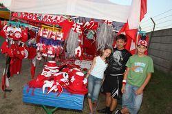 Polish merchandise stall