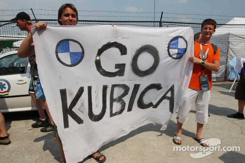 Robert Kubica, BMW Sauber F1 Team, fans