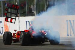 Felipe Massa, Scuderia Ferrari, F2008, blaast aan het einde van de race zijn motor op