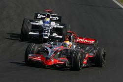 Lewis Hamilton, McLaren Mercedes, MP4-23 leads Nico Rosberg, WilliamsF1 Team, FW30