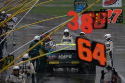 Jacques Villeneuve out of his car