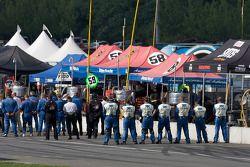 Crews during National Anthems