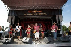 Live entertainment at the Budweiser stage