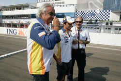 Flavio Briatore, Renault F1 with Nelson Piquet, Renault F1 and Bruno Michel, GP2 Series Organiser