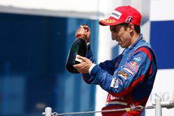 Sebastien Buemi celebrates his victory