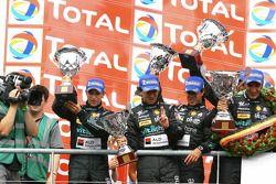 GT1 podium: second place Miguel Ramos, Alexandre Negrao, Stéphane Lemeret and Alessandro Pier Guigi