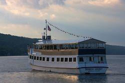 A tour boat on Seneca Lake