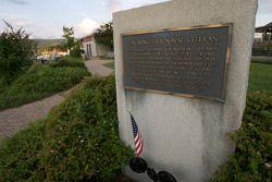 A memorial in the Watkins Glen marina