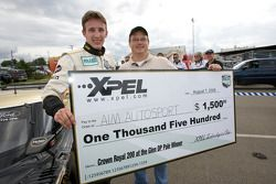Pole winner Brian Frisselle with the pole check