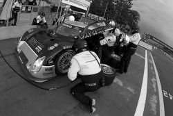 Pit stop for #61 AIM Autosport Ford Riley: Brian Frisselle, Mark Wilkins