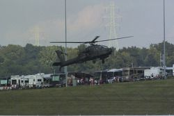 AH-64 Apaches fly over Kentucky Speedway