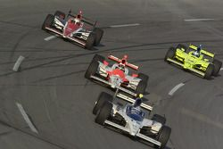 Buddy Rice, Helio Castroneves, Ed Carpenter and A.J. Foyt IV