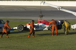 Safety team tends to Milka's car