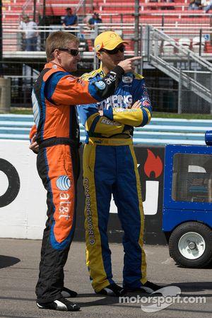 Jeff Burton y Kevin Harvick