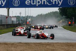 #4 Jules Bianchi ART Grand Prix Dallara-Mercedes: #1 Nico Hulkenberg ART Grand Prix Dallara-Mercedes