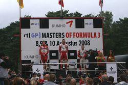 Masters de F3: Podio ganador Jules Bianchi, segundo Nico Hulkenberg, tercero Jon Lancaster