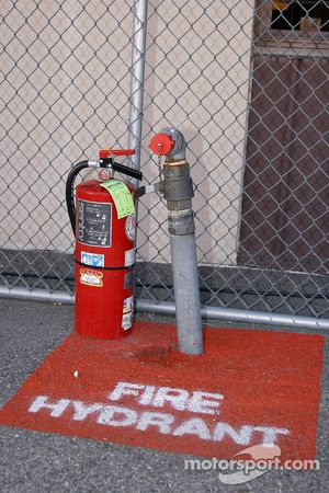 A fire hydrant at the track