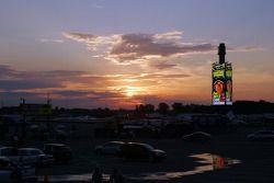 The sun rises over Michigan International Speedway